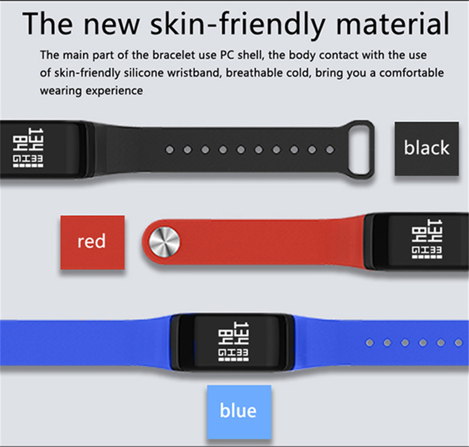 LETIKE Blood Pressure Smart Bracelet Sport Pedometer Fitness Tracker Wrist Smartband Pulse Measure Waterproof For IOS Android 11