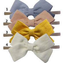 Buy 4 PCS Kids Girls Fabric bows headbands Hair bow Elastic hair bands Cloth Hair tie Bows Hairbands Headwear Hair Accessories for $4.71 in AliExpress store