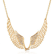 Hot Selling Plated Hollow Out Angle Wing Collar Necklace Women Fashion Jewelry Statement Necklace
