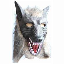 Cosplay Halloween Cosplay Wolf Head Festival Party Halloween Masquerade Mask DIY Cosplay Mask Wolf Head Halloween Mask A6(China)