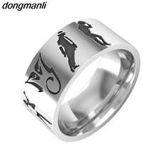 P632 dongmanli 8mm Michael Jackson dance Memorial Stainless steel ring size 6-12 Dropshipping(China)