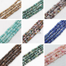 "7-15mm Natural Agates/Jaspers Freeform Rondelle Loose Beads 15""/38cm,2#,Min. order is $10, provide mixed wholesale for all items"