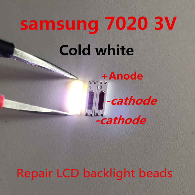 100pcs 7020 SMD Lamp Beads 3V 150mA for Samsung TCL Panasonic LED TV  Repair