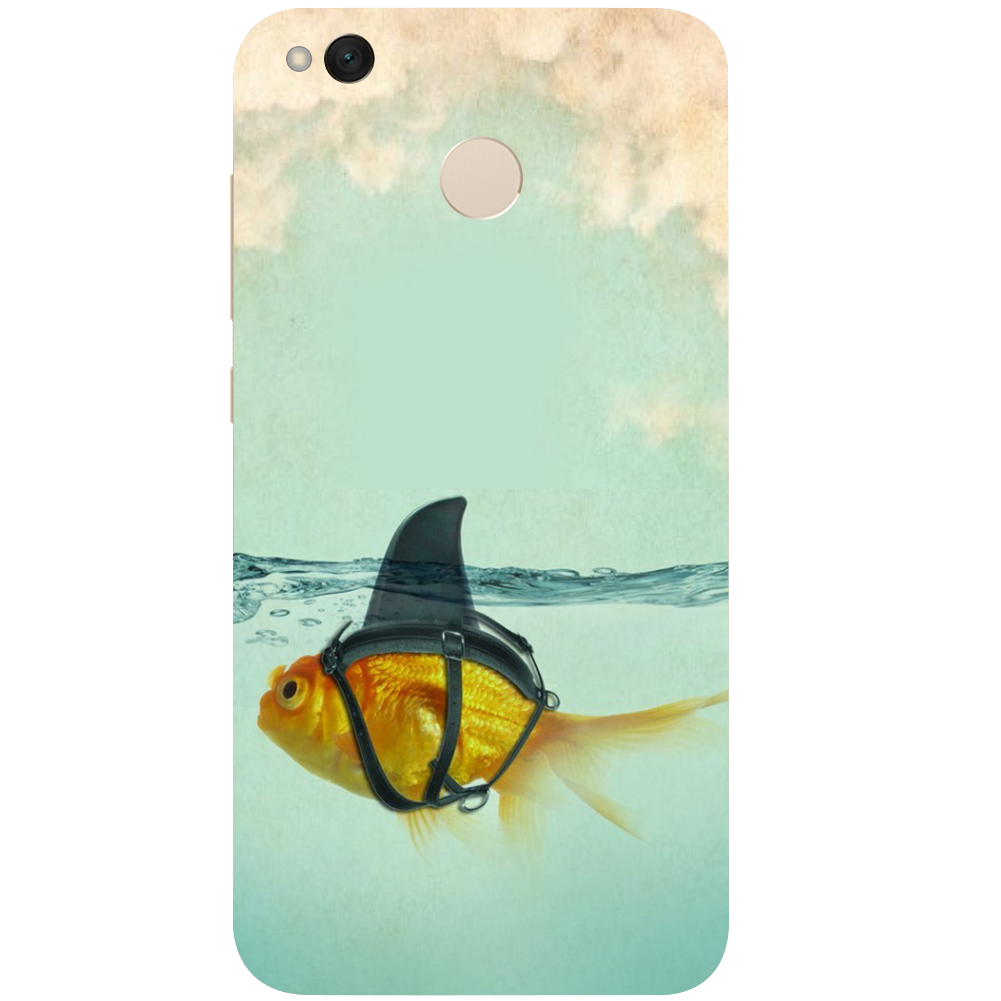 """Fake Shark"" Cute Goldfish Shark Phone Case 1"