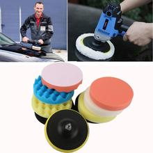 Waxing Buffing Polishing Sponge car Claening 9Pcs 6inch Waffle Pads Car Polisher Drill Adapter Dropshipping Sept1(China)