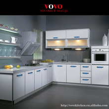 Simple and smart flat pack kitchen cabinet factory in Foshan China
