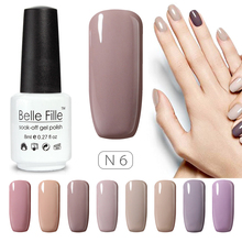 Nude Series Colors UV Gel Nail Polish 8ml Beige Soak Off Gel Polish Lacquer Nail Art Manicure Varnish Vernis Semi Permanent(China)