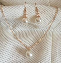 xl171 2017 fashion elegant suit (necklace + earring) imitation pearl necklace OL temperament necklace pendant pendant Jewelry