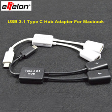 Effelon USB Type C 3.1 Male to USB 2.0 Cable Adapter OTG Data Sync Hub Adapter For MacBook