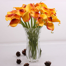 Simulation Calla Lily Artificial Flower PU Real Home Decoration Flowers Wedding Party Bouquet Decorative Flowers