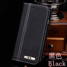 Lichee Luxury Leather Case for iphone 7 / 7 plus for iphone 6 / 6s / 5 / 5s / 4 / 4s Flip Cover Vintage Style Wallet Phone Bag(China)
