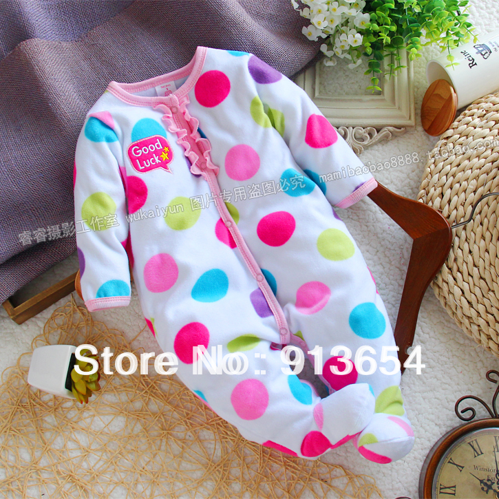 Free shipping new 2017 spring autumn Baby clothes infant romper baby long sleeve polar fleece dot overall baby girl romper<br><br>Aliexpress