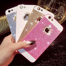 New Style Bling Diamond Cover Back Phone Case for iPhone 5 5s SE 6 6S 7 Plus 4 4s Hard PC Cases Fundas Para for Apple 5 5S Capas(China)