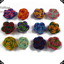Men 3CM felt flower with button men accessory 12pcs/lot 13color for your choose Free shipping(China)
