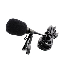 Black Clip-on Lapel Lavalier Microphone 3.5mm Jack For iPhone SmartPhone Recording PC Microfone Portable Microphone MIC