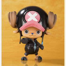 Black Tony Tony Chopper One Piece Cute Action Figure DIY Animation Doll Kids Toy Miniature Model For Car Decoration Doll House(China)