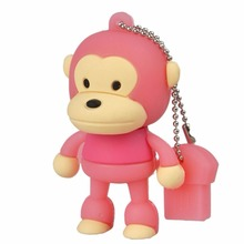 Accessories Cool Cartoon Blue Red Cute Monkey Characters Usb Flash Drive Animals 4G 8G 16G 32G 64GB