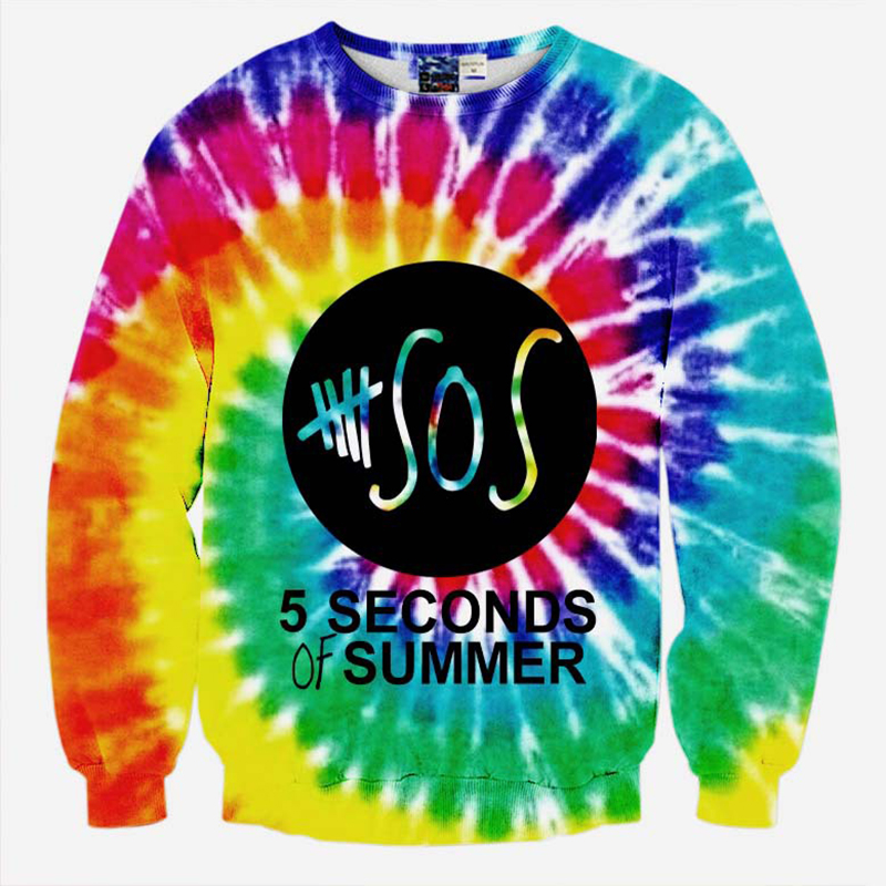 New fashion men women s novelty graphic sweatshirt 3D print font b 5 b font font compare prices on 5 seconds summer hoodie online shopping buy low,5 Seconds Of Summer Womens Clothing