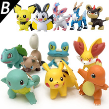 4cm Original Fennekin Squirtle Charmander Froakie Pikachu anime action toy figures pokemoning Collection model toys KEN HU STORE(China)