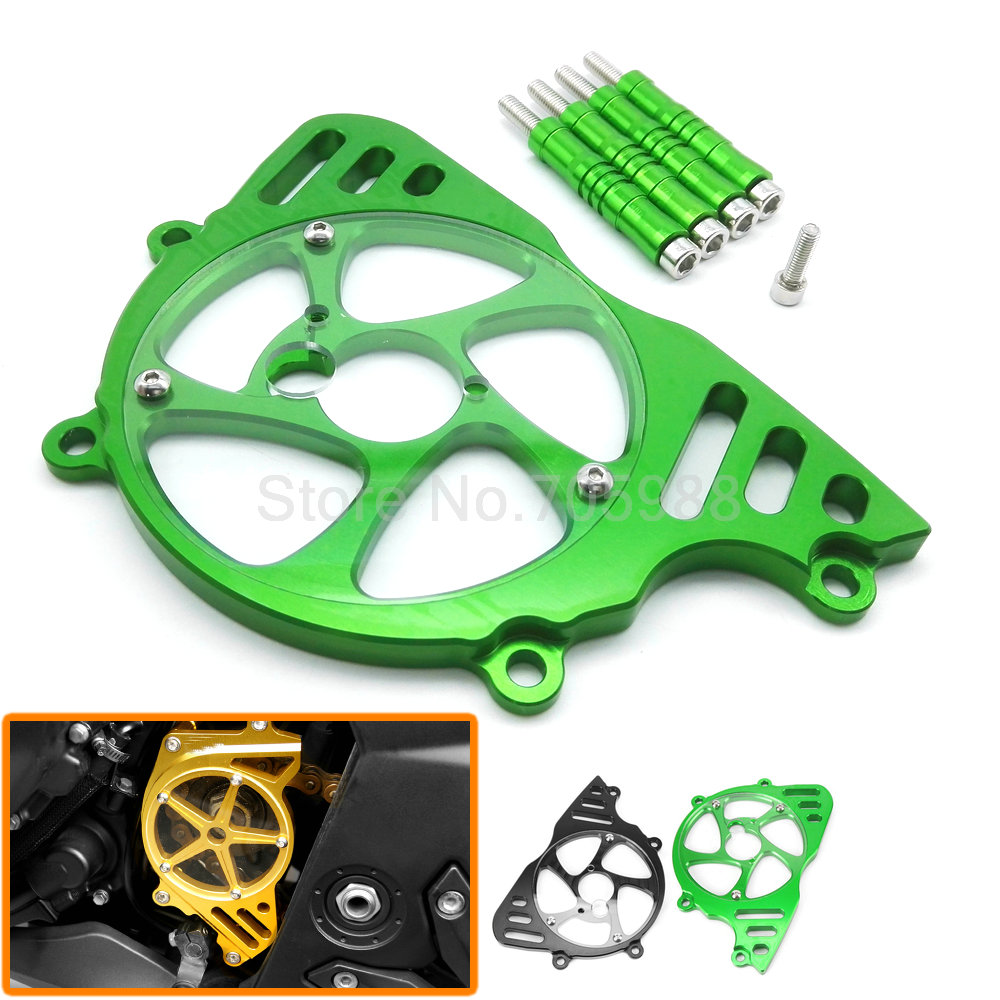 CNC Aluminum Motorcycle Front Sprocket Chain Guard Cover Left Side Engine Chain Cover  For Kawasaki Z1000  2010-2016<br>