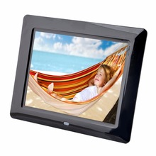 "8"" TFT LCD Digital Photo Frame Alarm Video Players + Remote Alarm Clocks MP3 MP4 Movie Player Digital Photo Frames"