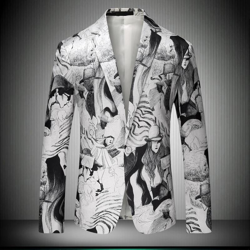 HTB1CN6LRpXXXXclaFXXq6xXFXXXN - Suit Jacket 2017 Hot Slim Fit Men's Jacket Elegant Korean Character Image Print Blazer Pattern Fashion Suit Blazer Masculino