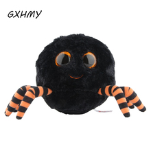 GXHMY Ty Beanie Boos Plush Toy Doll Halloween Series Black Spider