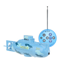 2017 High Speed Radio Remote Control Submarine Toys 40MHz With USB Cable Blue Color(China)