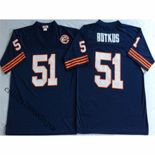 Mens 1985 Retro Dick Butkus Stitched Name&Number Throwback Football Jersey Size M-3XL(China)