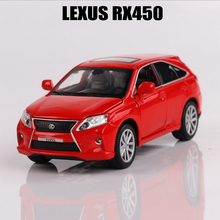 Car Models 1:32 Simulation Lexus RX450H Alloy Car Toys For Children Metal Diecasts Vehicle Kids Toys Pull Back Sound Light(China)