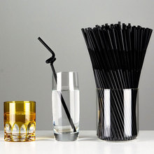 100Pcs/Pack Flexible Straws For Birthday Wedding Party Event Supplies Decorative Bubble Tea Cocktail Party Straws Wholesale