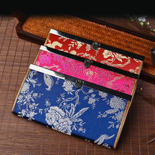 Baellerry2017 new fashion woman wallets Chinese style gift Yunjin embroidery long wallet woman