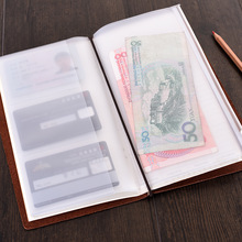 PVC Pocket for Traveler's Notebook Diary Day Planner Zipper Bag Pocket Business Cards Notes Pouch Planner Accessories 2pcs