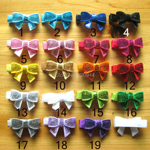 Wholesale 4 cm sequins bowknot hairpin foreign trade children's total package side hair hairpin children 85pcs/lot