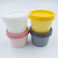 10 pcs 50g Empty jar Pots Color Choice Cosmetic Containers Lip Balm Nail Glitter Dust (Yellow Pink Gray White)(China)