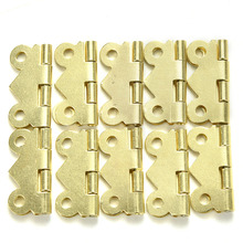 Cabinet Drawer Jewelry Box DIY Repair 10Pcs 20x17mm Mini Butterfly Hinges Jewelry Gift Wine Box Wood Dollhouse Door Hinge(China)