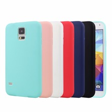 New UltraThin Candy TPU Matte Case For Samsung Galaxy S5 I9600 Silicone Gel Soft Back Cover Shell For Samsung S5 Covers