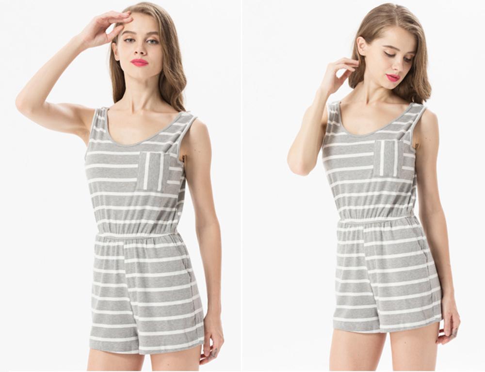 Siskakia mody młodzieżowej Letnie nastolatek dziewczyny Playsuit Przebrania paski patchwork slim fit krótkie elegancki 100% bawełna odzież różowy 21