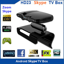 HD23 Smart TV Box 2.0MP Camera and Mic Android TV HDMI 1080P 1GB/8GB android 4.4 skype Google 4K Quad Core Media Player