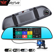 ANSTAR CAR DVR 3G Car Camera Android 5.0 Rearview Mirror Camera Bluetooth Dual lens Dash cam GPS Navigator Video Recorder Wifi