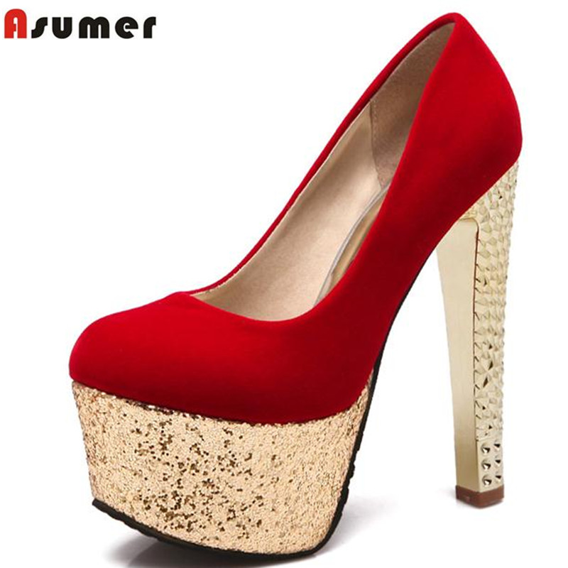 pumps for women woman shoes high heels summer pu square toe round toe sexy plus size 34-43 platform wedding shoes party <br>