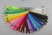 50 Pcs/lot wholesale 30cm Closed End Lace Zippers for sewing clothes DIY Handcraft jacket home Bags Garment Textile Accessory(China)