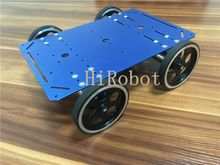 C600 4WD Car, Silver/Blue/Golden Alloy Chassis, DC Motor, 95mm alloy encoder wheel, for DIY Smart car, programming(China)