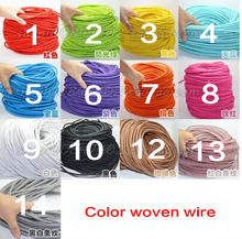 CE 5M vintage cable 2*0.75 textile fabric electrical wire DIY pendant light electrical cable woven braided cable power cord(China)