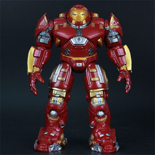 2015 building toy smetal version Avengers 2 age of ultron movie Iron Man children toys Light cartoon toy figures Robot for kid