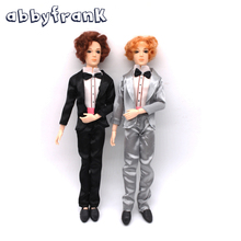 Abbyfrank 14 Moveable Jointed Doll 30cm Male Man Naked Body Boyfriend With Clothes Nude Doll DIY Toy Learning Toys For Girls(China)