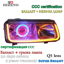 Hireno Modified Headlamp for Volkswagen Jetta 1999-2003 Headlight Assembly Car styling Angel Lens Beam HID Xenon 2 pcs(China)