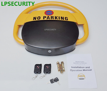LPSECURITY 2 Remote Control Car Parking Barrier Bollard Lock All Metal Parking Lock(battery not included)(China)