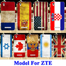 Soft TPU Silicon Flag Phone Cases Covers For ZTE Blade A510 A610 A910 A465 A452 A1 A 510 A 610 A 910 A 465 Q519T Housing Bags