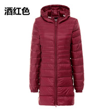 2017 winter 90 white duck down jacket women long coat parkas female hooded warm clothes ultra light down outerwear high quality